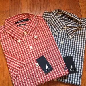 Two short sleeve dress shirts
